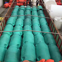 直径55CM通孔穿螺杆***体式拦污浮筒 水面垃圾清理浮筒