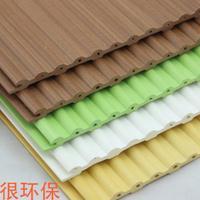 曲阜板材厂家幼儿园彩色墙裙吊顶自然木吊顶150实心小圆板