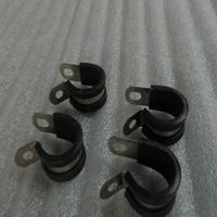 金属带胶垫线夹 不锈钢包塑EPDM管夹 R型软管夹