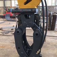 厂家专业生产23吨液压夹木器360度液压旋转夹木器挖掘机夹具图片
