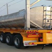 40英尺三轴危险品罐箱骨架运输半挂 危险品骨架半挂车