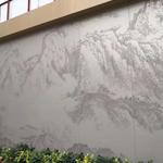 彩绘包柱铝单板-图案描绘冲孔铝板加工