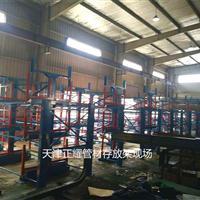 浙江杭州管材堆放在地面上如何管理配合行车使用的摇出式管材货架