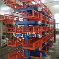 山西钢材存放就选伸缩悬臂式钢材进口占用货架 占地小 存储量高
