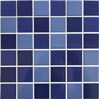 水池游泳池鱼池用陶瓷马赛克蓝色瓷砖