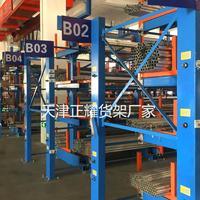 河南型材存放架 钢材仓库专项使用货架 管材货架机械化操作钢棒圆钢