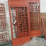 中式木纹铝合金花格窗-仿古铝花窗按规格定做