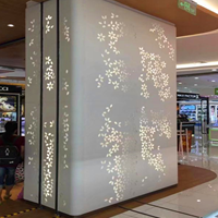 氟碳铝单板-铝单板生产厂家-穿孔透光铝单板背景墙