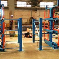 湖州伸缩悬臂式管材货架 钢管库货架 型钢圆钢槽钢都可以使用