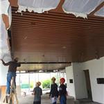昆明【木纹铝方通】厂家直销定制酒店大堂装饰吊顶木纹铝方通