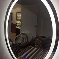 现代浴室镜子led灯镜无框洗漱台壁挂贴墙卫生间卫浴镜厕所镜定制