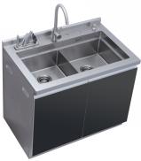 贝田手工多功能集成水槽一体厨柜304不锈钢大容量