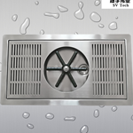 不锈钢洗杯器 条纹孔吧台常用四面洗杯器滴水盘沥水盘冰杯机