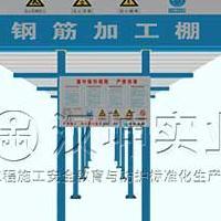 组装式钢筋加工棚 双立柱防护棚