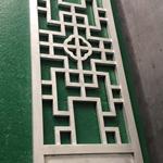 木纹铝格栅窗-铝合金花格窗方管焊接定制