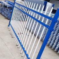 厂区护栏 蓝白色圆管护栏 喷塑护栏隔离网 规格齐全
