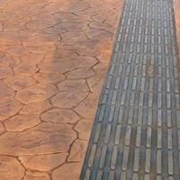 孝感压模混凝土材料颜色可定制孝感压模地坪保护剂施工成本低
