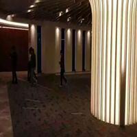 厦门白色【镂空铝单板包柱】透光雕刻铝单板