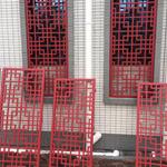 仿古木纹铝合金花格窗设计生产厂家