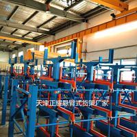 徐州企业存放管材 原材料 圆钢 钢棒使用吊车用伸缩悬臂式货架