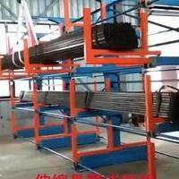 宁波管材货架图片 伸缩悬臂式货架设计 钢管存放架尺寸