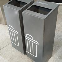 云南大理室内方形轨道式不锈钢垃圾桶果皮箱直销
