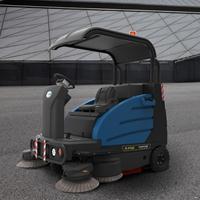 车库用扫地车 小区道路清扫用驾驶式电动扫地机