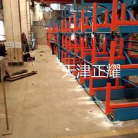 嘉州伸缩悬臂货架案例 管材存放架 钢材库专项使用架