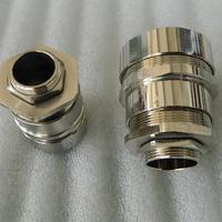 M螺纹电缆软管密封防水接头 铜镀镍带锁紧软管接头