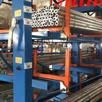 工程案例伸缩悬臂货架存放管材 管材库立体货架