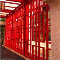 仿古铝合金窗花-木纹铝窗花生产厂家