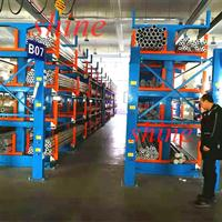 香港管材货架 伸缩悬臂式结构设计吊车存放6米-12米钢管 方管
