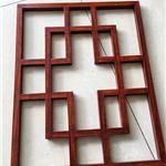 广东木纹色铝格子花窗仿古铝合金格栅门窗装饰市场厂家