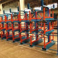 扁钢方钢圆钢槽钢角钢用伸缩式悬臂货架存放