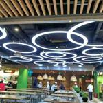 室内不规则造型铝方通_装饰弧形铝方通吊顶