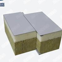 厂家直销 200mm聚氨酯封边新型岩棉夹芯板