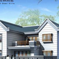 石家庄轻钢别墅屋顶施工过程?