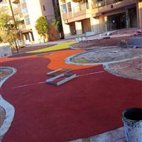 湖南天涯社区彩色硬地丙烯酸涂料给力体育成功铺建