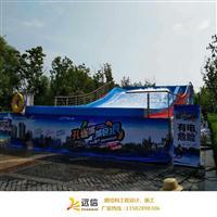 蓝色冲浪池专项使用高度度张拉膜材料成批出售   裁剪加工,冲浪池膜安装