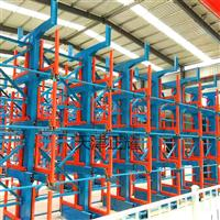 悬臂货架可以伸缩了可以吊车存放管材钢材棒料了