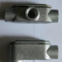 宁波供应可锻铸铁穿线盒 热浸锌拐角盒提供防爆认证
