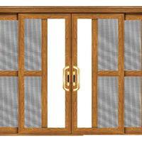 铝木复合门窗-228铝木三轨推拉门|铝木推拉门