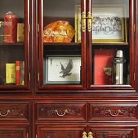 长沙市实木中式家具设计素材、实木书柜、推拉门订制软装搭配