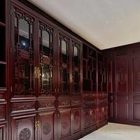 长沙市实木美式家具软装搭配、实木橱柜、博古架定做匠工精力