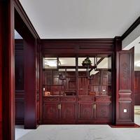 长沙市高端原木家具私人定制、原木木门、哑口套定做价格透明