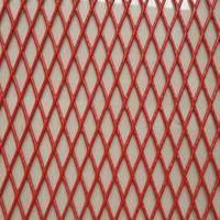 菱形钢板围挡网厂家直销1.8米红色防锈围挡网