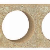 德国邵尔兰特桥洞力学板,空心刨花板,抽空门芯
