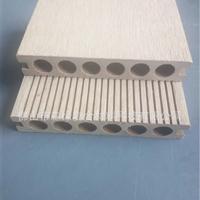 佛山厂家直销塑木圆孔地板防水防潮防蛀140*25MM单面板