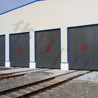 江苏钢铁厂折叠门、江苏火车维修间折叠门厂家