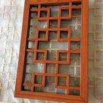 宫廷式铝合金花格窗-仿古餐厅装饰木色铝花格材料